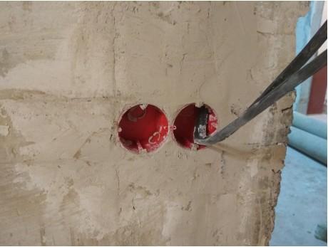Подрозетник по бетону Тусо наборный с саморезами (65х40мм)