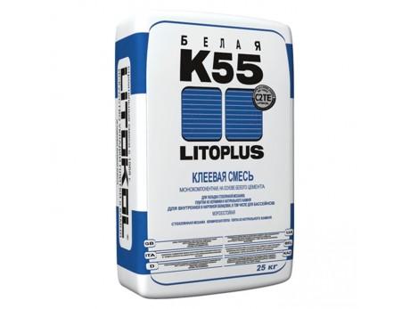 Клей для плитки Литокол LitoPlus K-55 белый (25кг)