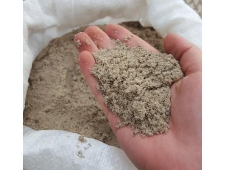 Песок строительный в мешках (25кг)
